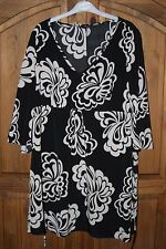 LADIES BLACK/WHITE DRESS/TUNIC SIZE 18 - EXC CON