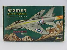 Comet NORTH AMERICAN SUPER SABRE F100 Scale Plastic Model Kit UNBUILT Vintage