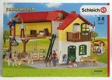 SCHLEICH Farm World 42485 Cavalli Stalla Maneggio con molti accessori NUOVO /& OVP