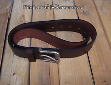 Men's Belt Real Leather Brown (made in England), that can be PERSONALISED