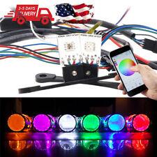 Pair RGB LED Devil Eyes Bluetooth Control  Demon Eye For Car Headlight Projector