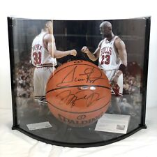 UDA Upper Deck Case Dual Signed Jordan Pippen NBA Trikot Air Basketball Jersey I