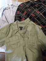 MEN'S DRESS SHIRTS med LOT 3 J. CREW,CanyonCreek.JcPenny vtg.Casual+REDCROSSHELP