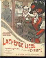 """"""" Lachende Liebe """"  von H. Christine , übergroße, alte Noten"""