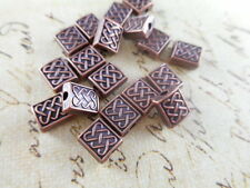 50 Antique Copper Plated Celtic Rectangle Beads Findings 49880p
