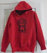 100% Cotton LE DE COEUR Pullover BOYS Hoddie Red APE Size M Age 12-14