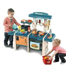 Kitchen Play Set Pretend Baker Kids Toy Cooking Food Playset Girls Boys Gifts