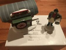 """New Dept 56 Heritage Village Collection """"Town Tinker"""" Set of 2"""