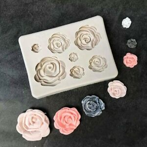 3D Rose Flower Silicone Clay Soap Mold Mould Fondant Sugarcraft Cake  Decorating