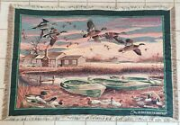 Vintage Ducks Unlimited Tapestry Throw Blanket by Goodwin Weavers Made in USA