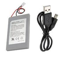 Batterie 1800 mAh 3.7v + Câble USB pour manette sans fil PS3 - Envoi suivi FR