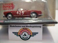 """Alfa Romeo Giulietta Spider """"Mille Miglia"""" 1956, HACHETTE Collection 1:43, OVP"""
