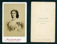 """CDV """"SISSI"""" Impératrice d'Autriche Marie Elisabeth Eugénie par Neurdein"""