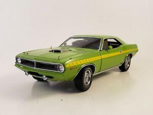 "Danbury Mint 1970 Plymouth 'Cuda 440 ""SASSY GREEN"" 40th Anniversary LE 1:24"