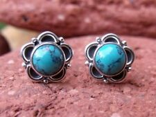 Handmade Turquoise Sterling Silver Fine Earrings