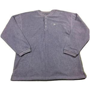 90s VTG BIG DOG SPORTSWEAR Polar Fleece Henley XL Sweatshirt Pullover Made USA