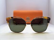 Authentic Tory Burch 6049 315571 Gold Tokyo Tortoise Green Lens Sunglasses $265