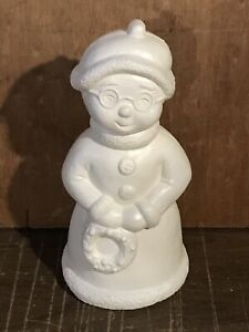 Vintage Christmas Mrs Claus Blow Mold Snowman Union Products Light Up Rare
