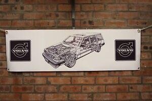 Volvo 740 estate  1 large pvc  WORK SHOP BANNER garage  SHOW BANNER