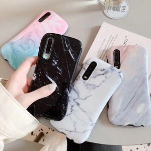 Fashion Marble Grain Case For Huawei P40/P30/P20+ Mate30 Nova6 HonorV30+  iPhone