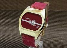 SANFORD Jumping Hour Retro Future Red Color Hand Winding Men's Watch