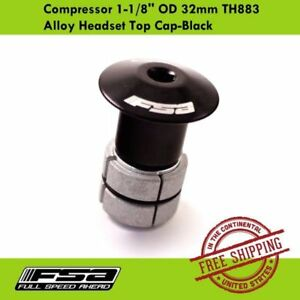 FSA Compressor TH-883 1-1/8'' OD 32mm Alloy Headset Top Cap-Black -MTB Road Bike
