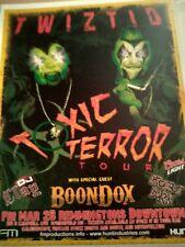 Twiztid/ Boondox * Rare Concert Flyer Mini Poster * Springfield, Mo 3/28/2009