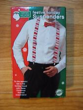 Candy Cane Suspenders Red and White Striped Halloween Clown Costume
