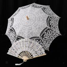 Parapluie De Dentelle Artificielle Parasol & Ventilateur De Pliage À Main
