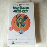 ROAD RUNNER & WILE E. COYOTE THE SCRAPES OF WRATH VHS Video Tape 1992 CARTOONS