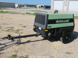 2018 Sullair 185DPQ KU4F 185 CFM Towable Air Compressor Kubota Diesel bidadoo