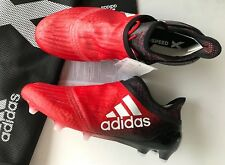 ADIDAS X16+ Purechaos Football Boots RED/BLACK Size UK 10 US 10.5