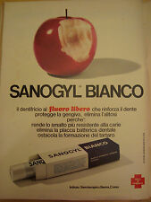 PUBBLICITA' ADVERTISING WERBUNG 1976 DENTIFRICIO SANOGYL BIANCO (AM15)