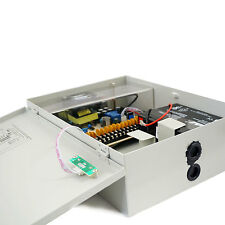 CCTV Power Supply Box Lock Case 20 amp 18 way with Battery Backup
