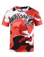 Chicago Jordan Inspired Red Camo T-Shirt (retro camouflage basketball t shirt)
