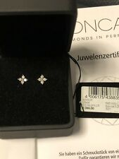 399€ Original MONCARA Diamant IF 0,25 ct Lupenrein Ohrringe Ohrstecker 14ct Gold