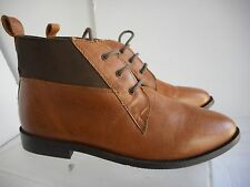 TOPSHOP  Brown Leather Ankle Boots Size 5