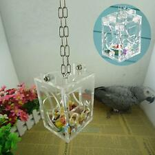 Parrot Bird Cage Feeder Hang Foraging Toy For Pet Treat Hunt Macaw Cockatoo New#