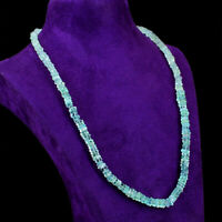195.00 Cts Natural Single Strand Purple Amethyst Heishi Beads Necklace NK 14E113