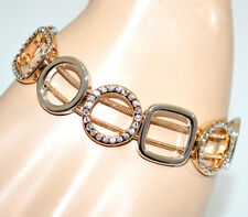 PULSERA mujer plata oro dorado strass brazalete anillos elegante armband G29