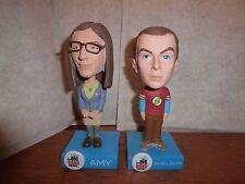 RARE bundle Big Bang Theory Funko Bobble Heads figure Sheldon Cooper Amy Fowler
