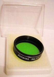 ANTARES #11 GREEN PLANETARY FILTER.  NEW IN BOX.