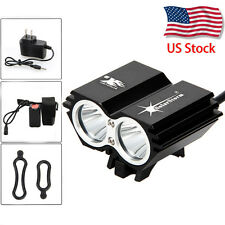 SolarStorm 6000Lm 2xCREE XM-L T6 LED Front Bicycle Lamp Bike Headlamp Headlight