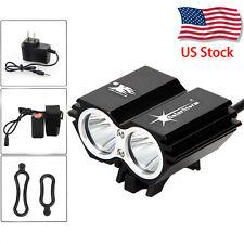 SolarStorm 6000Lm 2xCREE XM-L T6 LED Front Bicycle Lamp Bike Headlamp Headlight