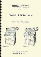 TROUBLE SHOOTING GUIDE (manual) JUKEBOX SEEBURG MODELS DS100 and DS160(juke box)