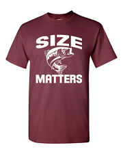 SIZE MATTERS Fish Fishing Outdoors Lure Big Fish Slogans Men's Tee Shirt 1625