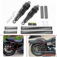 Motorcycle Black Slammer Lowering Kit Shock+Absorbers Spacer For Harley Dyna FXD