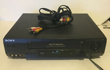 Sony Slv-N60 Vcr Vhs Player/Recorder W/ A/V Cables *No Remote* Tested