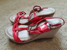 Old Navy Brand Red Color Women's Wedge Open-toe Sandals - Sz: (U.S.) 8N