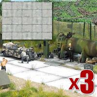 Concrete slabs (Busch 7412) - 3 x 2 realistic OO/HO decor sheets F1